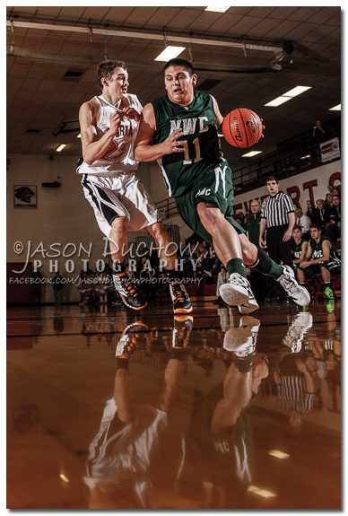 Basketball action photos at Newport high school by Sports Photographer Jason Duchow