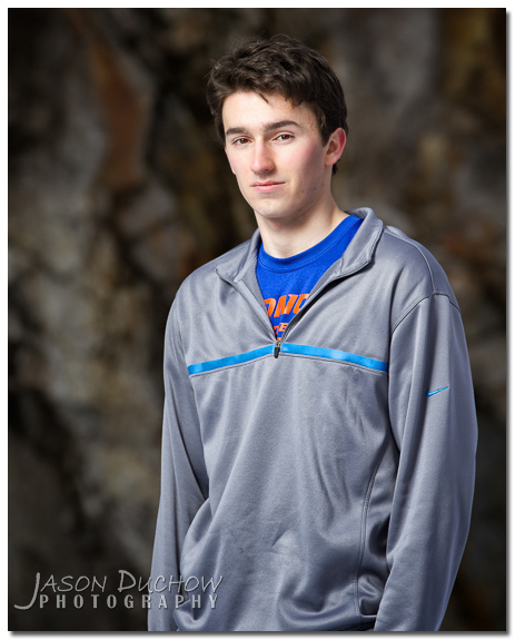 Senior Portraits taken in the snow on Schweitzer mountain