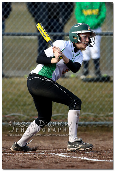 Photo by Rathdrum Photographer Jason Duchow of Bekah Kastning at the Kellogg vs. Lakeland Varsity Softball game at Lakeland High School on March 25, 2013