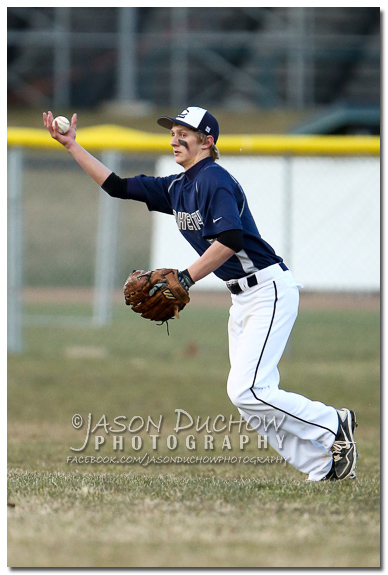 Photo by Coeur d'Alene Photographer Jason Duchow of the Lakeland vs. Lake City Varsity baseball game at Lake City High School on March 27, 2013