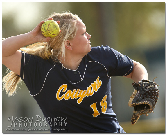 Photo by Photographer Jason Duchow of the Canby vs. McMinville softball game at McMinville High School on April 3, 2013.