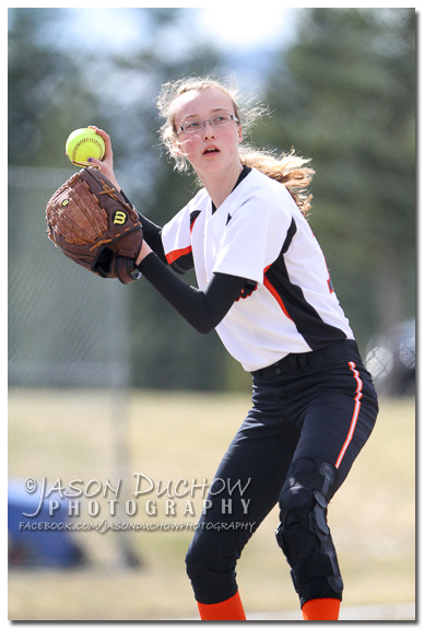 Photo by Bonners Ferry Photographer Jason Duchow of the IML Softball Tournament at Timberlake Falls High School on March 29, 2013
