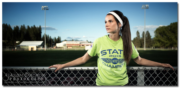 Portrait of Arielle Walden, three time state Champion for Newport High School