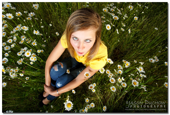 Intentionally goofy bobble head senior portrait by Sandpoint Photographer and Coeur d'Alene Photographer Jason Duchow