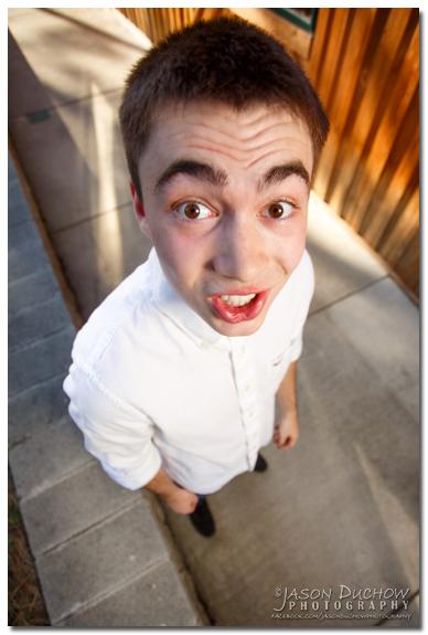 Intentionally goofy bobble head senior portrait by Sandpoint Photographer and Coeur d'Alene Photographer Jason Duchow