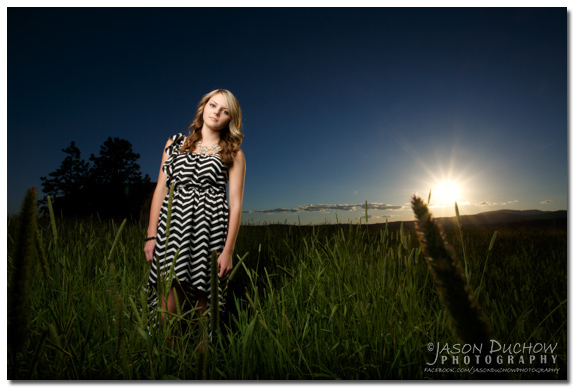 sunset senior portrait