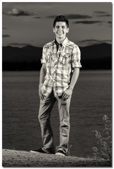Lake Pend Orielle Senior Portrait