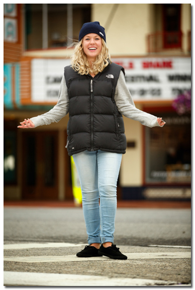 Senior Portrait by Panada Theater in Sandpoint