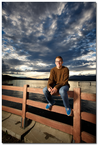senior photo in sandpoint