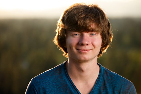 Senior photos of Connor from the Moscow High School class of 2014 taken in Coeur d'Alene Idaho
