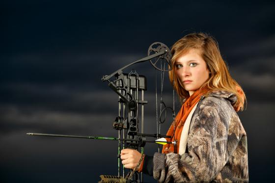 Archery themed senior photos