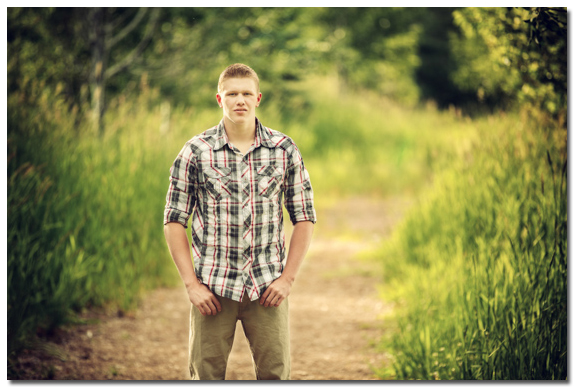 senior portrait on a path