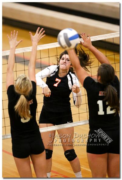 Volleyball between Newport High School and Priest River High School