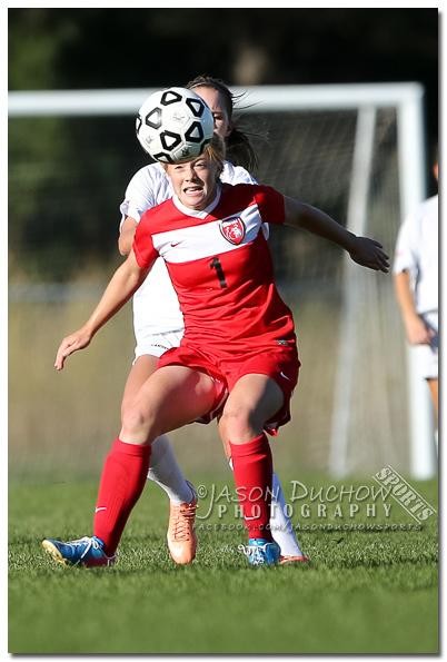 Varsity girls soccer between Sandpoint high School and Lakeland High School