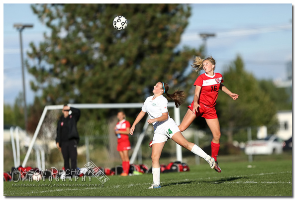 Varsity girls soccer between Sandpoint high School and Lakeland High School