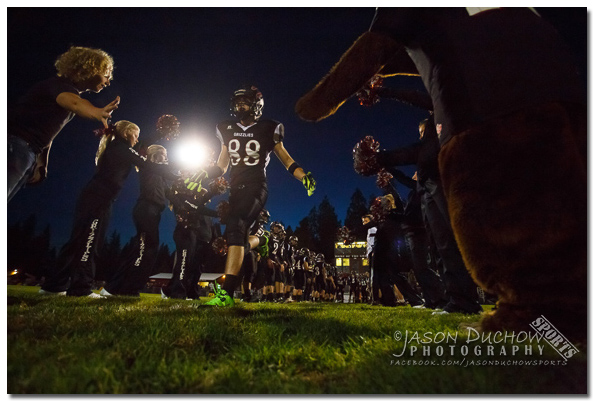 Football between the Lake City High School JV team and the Newport Varsity team