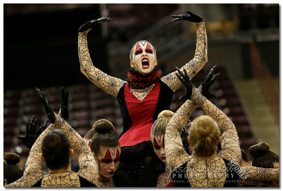 Rocky Mountain High School dancers performing during the 2015 Idaho State Dance Competition