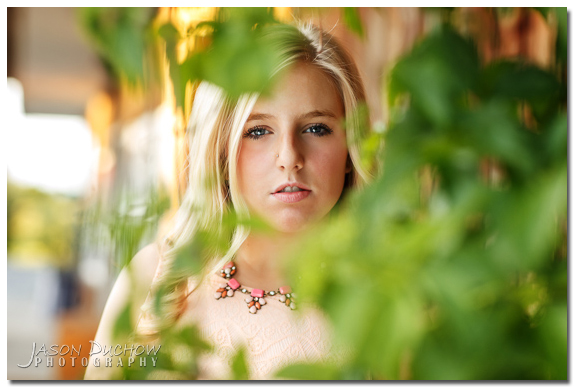 Natural light senior portrait