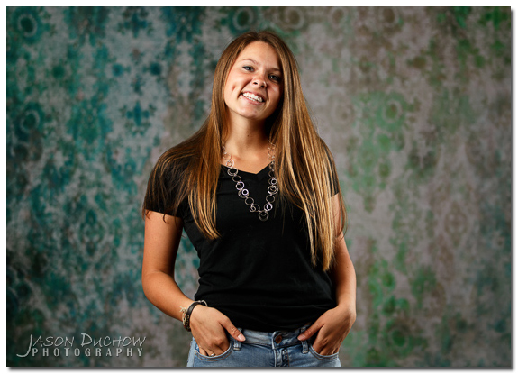 studio senior portrait
