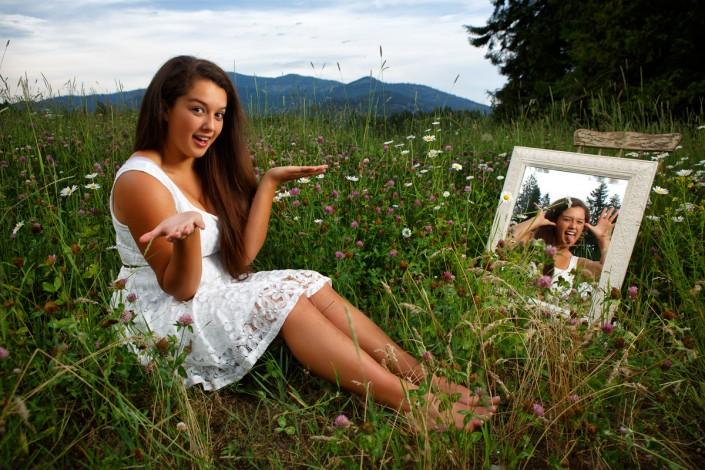 A fun senior photo with Trinity by Jason Duchow Photography